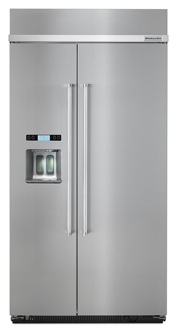 KitchenAid® 25.0 cu. ft 42-Inch Width Built-In Side by Side Refrigerator with PrintShield™ Finish