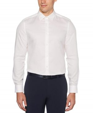 Perry Ellis Men's Resist Spill Slim Fit Shirt in Bright White