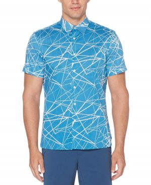 Perry Ellis Men's Abstract Linear Soft Shirt